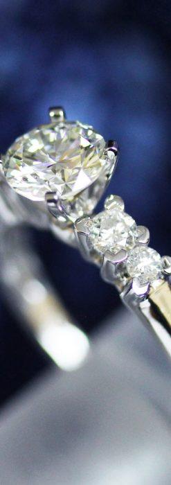 4石のダイヤモンドと18金の指輪-A0200-1