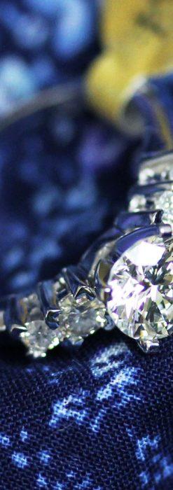 4石のダイヤモンドと18金の指輪-A0200-2
