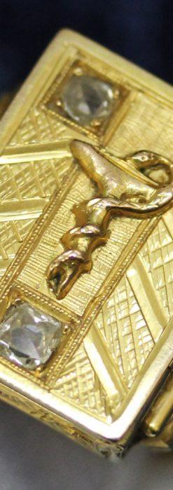 騎士の封蝋印とダイヤモンド・14金の指輪-A0202-2