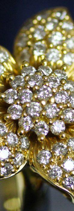 84石のダイヤモンドと18金の花の指輪-A0205-1