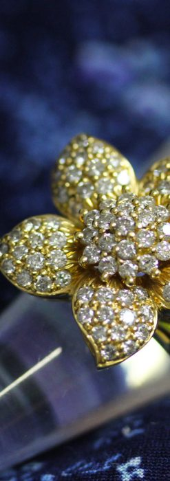 84石のダイヤモンドと18金の花の指輪-A0205-2