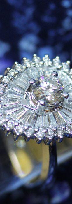 ドロップ型のダイヤモンドと18金の指輪-A0206-1