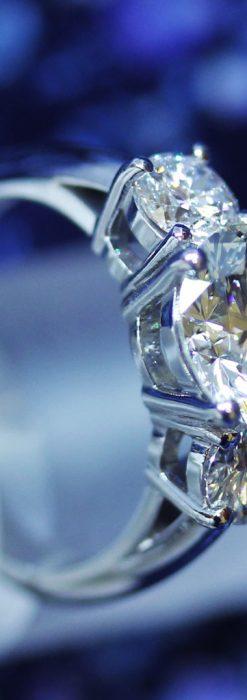 大粒のダイヤモンドと18金の指輪-A0207-2