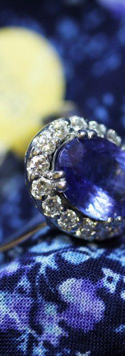 大粒のタンザナイトとダイヤモンドの18金指輪-A0209-2