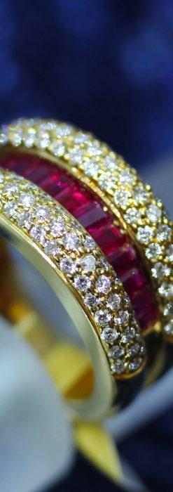 ルビーとダイヤモンドの18金指輪-A0210-1