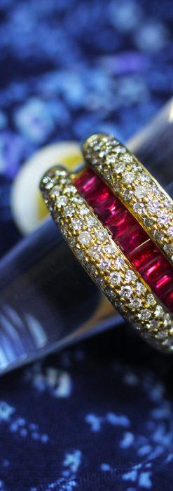 ルビーとダイヤモンドの18金指輪-A0210-2