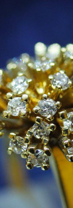 27石のダイヤモンドが輝くオーストリアの金無垢指輪-A0212-1