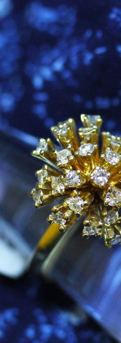 27石のダイヤモンドが輝くオーストリアの金無垢指輪-A0212-2