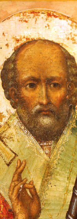 聖ニコラオ・ニコラウスを描いた19世紀のイコン・聖画像-A0215-2