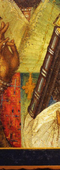 聖ニコラオ・ニコラウスを描いた19世紀のイコン・聖画像-A0215-4