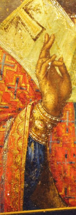聖ニコラオ・ニコラウスを描いた19世紀のイコン・聖画像-A0215-5