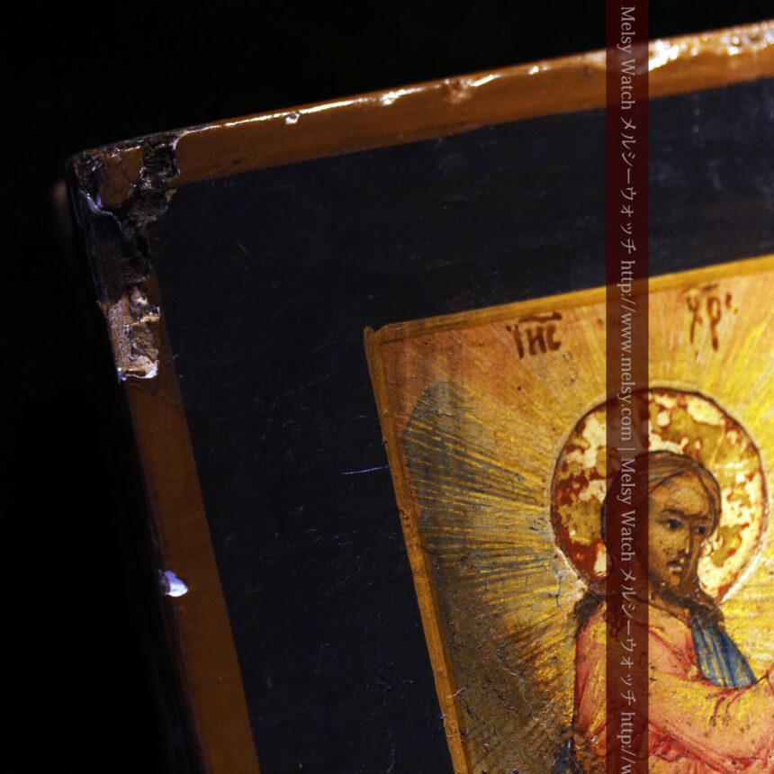聖ニコラオ・ニコラウスを描いた19世紀のイコン・聖画像-A0215-7