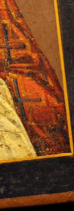 聖ニコラオ・ニコラウスを描いた19世紀のイコン・聖画像-A0215-8