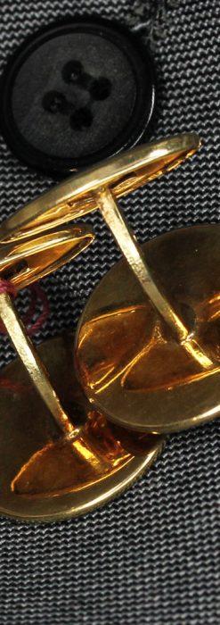 オーストリアの1915年ダカット金貨を使った金無垢カフス-A0216-8