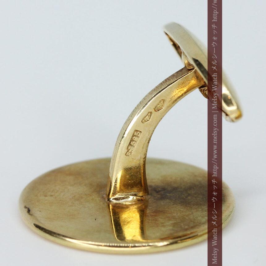 オーストリアの1915年ダカット金貨を使った金無垢カフス-A0216-9