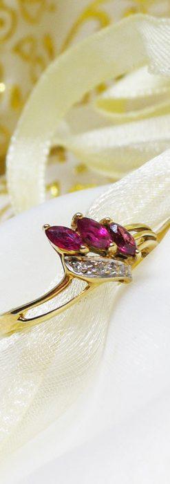 ルビーとダイヤモンドの金無垢指輪-A0218-1
