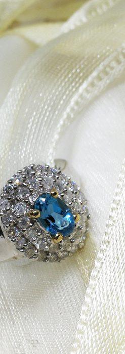 トルマリンとダイヤモンドの金無垢指輪-A0221-1