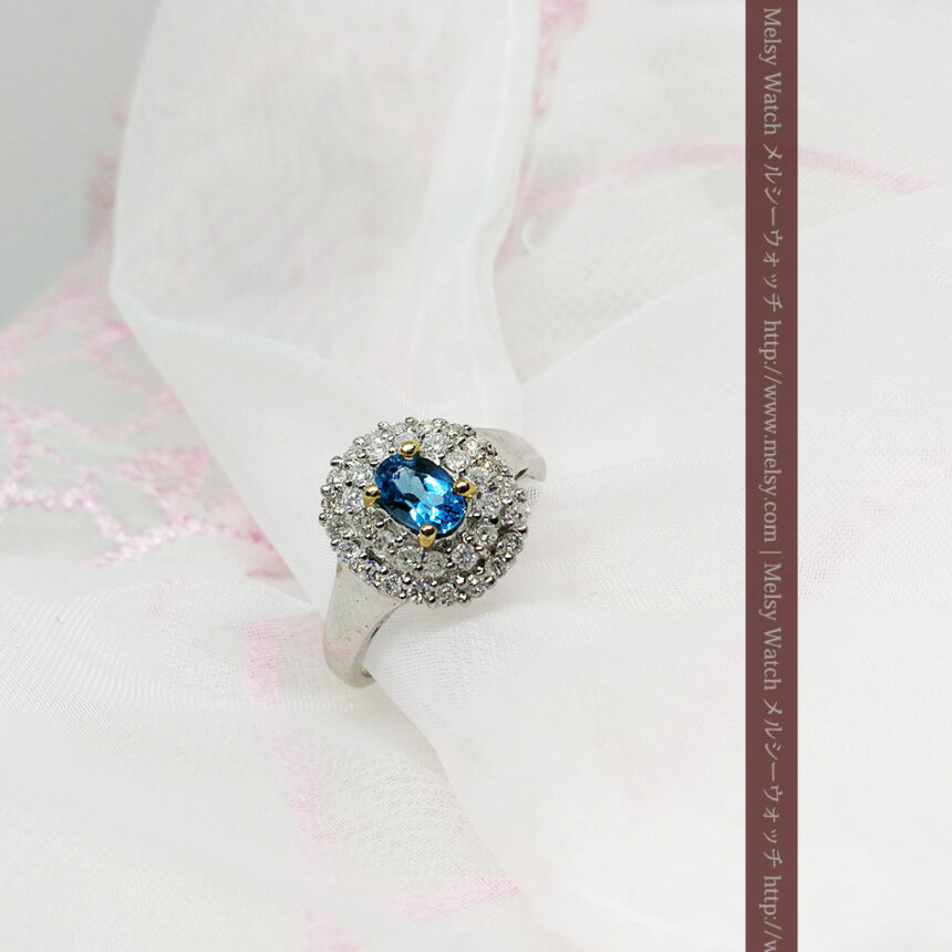 トルマリンとダイヤモンドの金無垢指輪-A0221-2