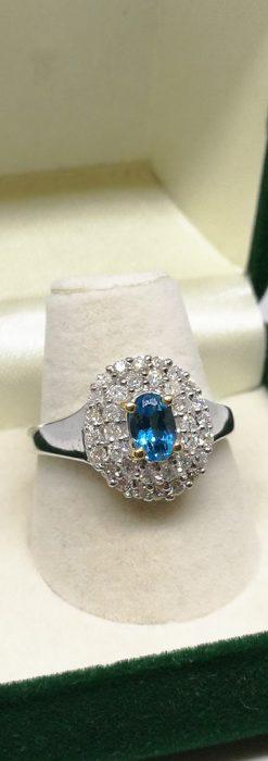 トルマリンとダイヤモンドの金無垢指輪-A0221-3