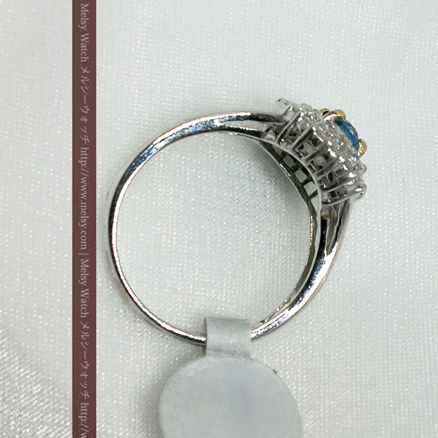 トルマリンとダイヤモンドの金無垢指輪-A0221-4