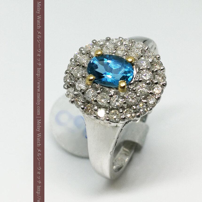 トルマリンとダイヤモンドの金無垢指輪-A0221-6
