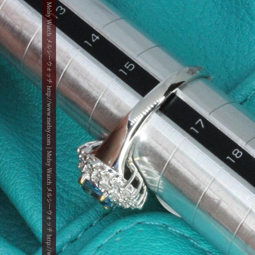 トルマリンとダイヤモンドの金無垢指輪-A0221-7