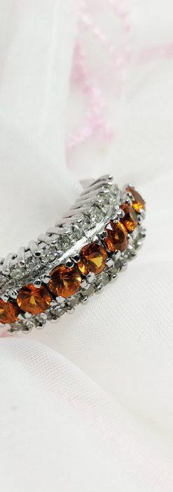 シトリンとダイヤモンドの金無垢指輪-A0223-1