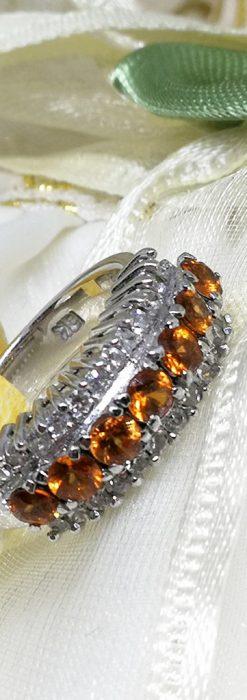 シトリンとダイヤモンドの金無垢指輪-A0223-2