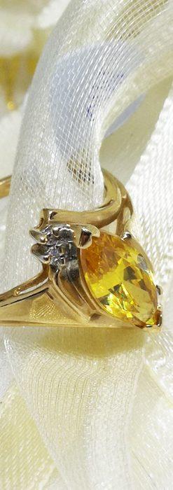 ゴールデンジルコニアの金無垢指輪-A0224-1