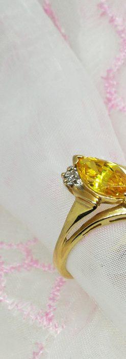 ゴールデンジルコニアの金無垢指輪-A0224-2
