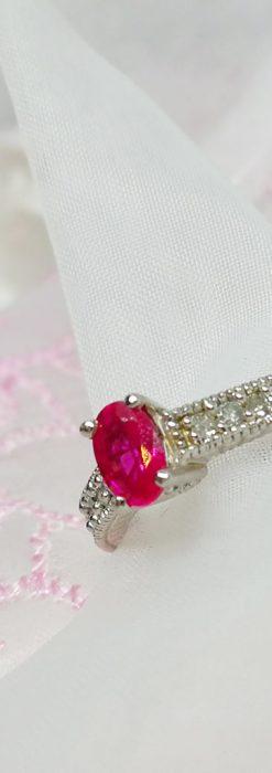 ピジョンブラッドのルビーとダイヤモンドの金無垢指輪-A0226-1