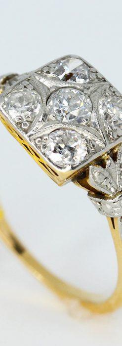 プラチナと18金のダイヤモンドリング-A0228-1