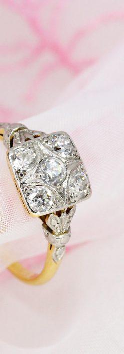 プラチナと18金のダイヤモンドリング-A0228-2