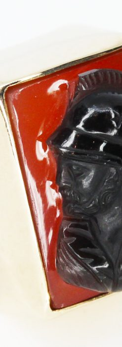 ローマ戦士のカメオの金無垢リング-A0231-1