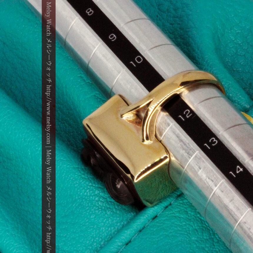 ローマ戦士のカメオの金無垢リング-A0231-11