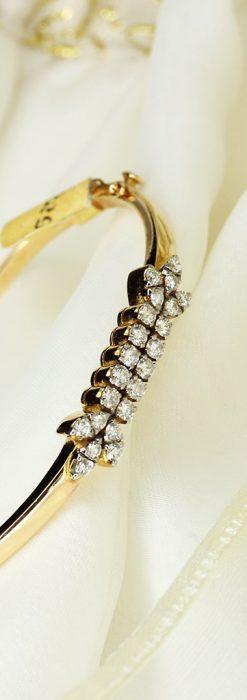 22石のダイヤモンドの18金バングル・ブレスレット-A0232-1