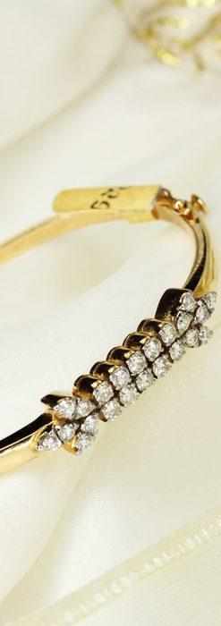 22石のダイヤモンドの18金バングル・ブレスレット-A0232-2