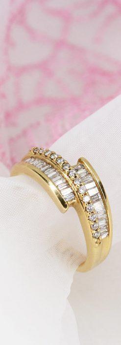 バゲットカットダイヤモンド・18金リング-A0235-1