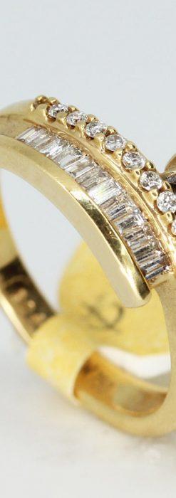 バゲットカットダイヤモンド・18金リング-A0235-3