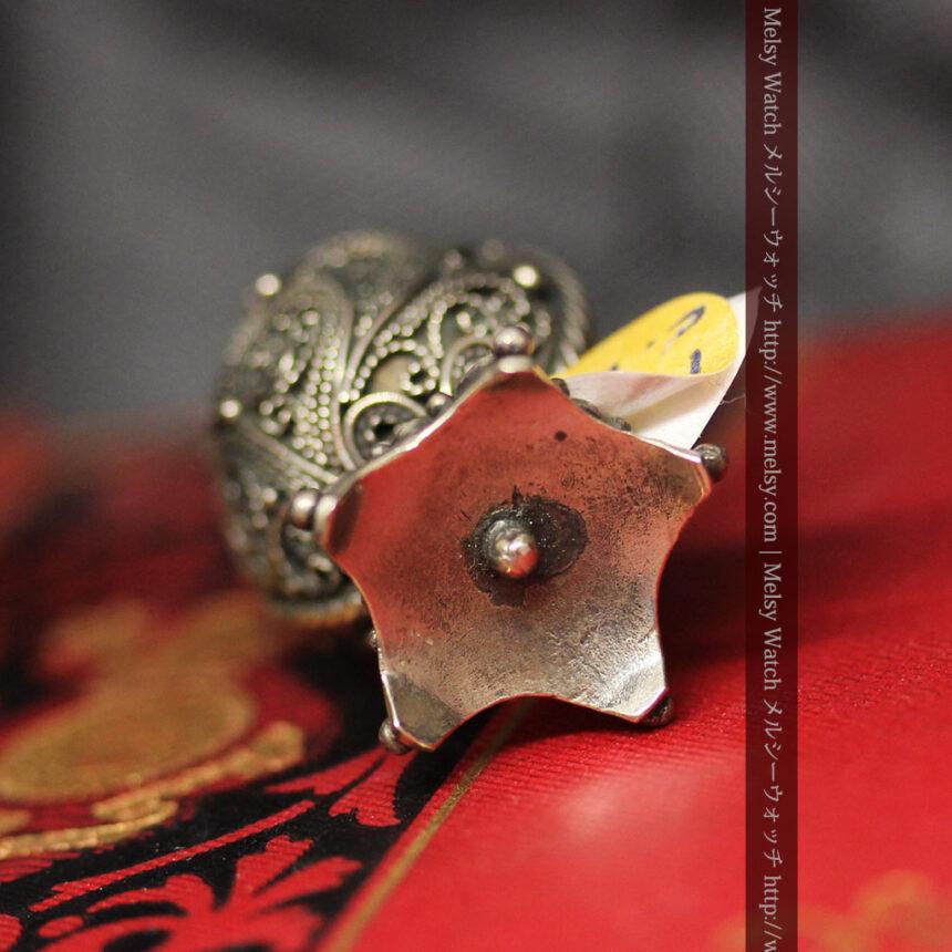 キリストのエナメル画・アンティーク銀無垢祭壇-A0240-11