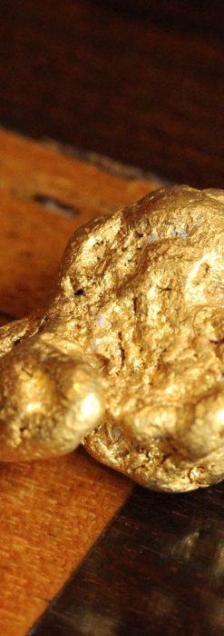 自然金ビクトリア州採掘の24カラットの金塊-A0242-1