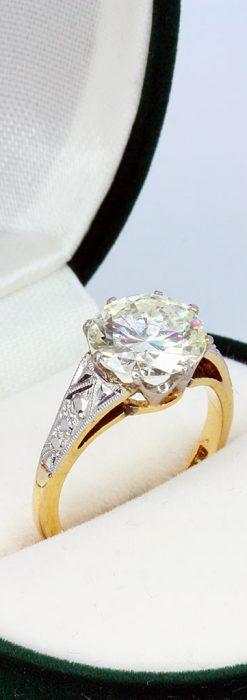 2.5カラットのダイヤモンド18金リング-A0243-1