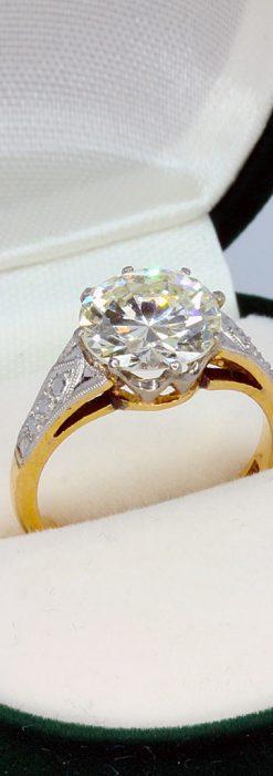 2.5カラットのダイヤモンド18金リング-A0243-2