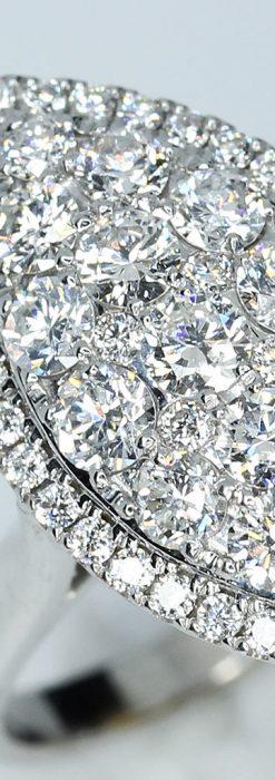 マーキス型のダイヤモンド18金リング-A0245-1