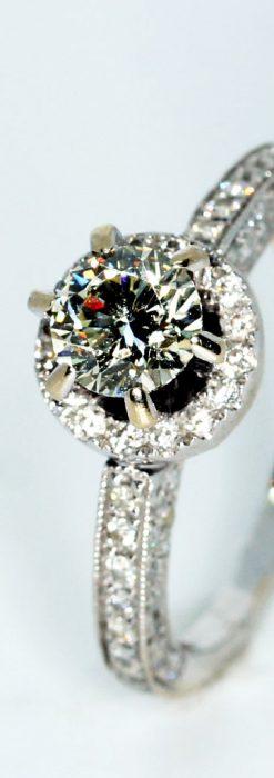0.8カラットのダイヤモンド18金リング-A0246-1