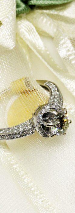 0.8カラットのダイヤモンド18金リング-A0246-2
