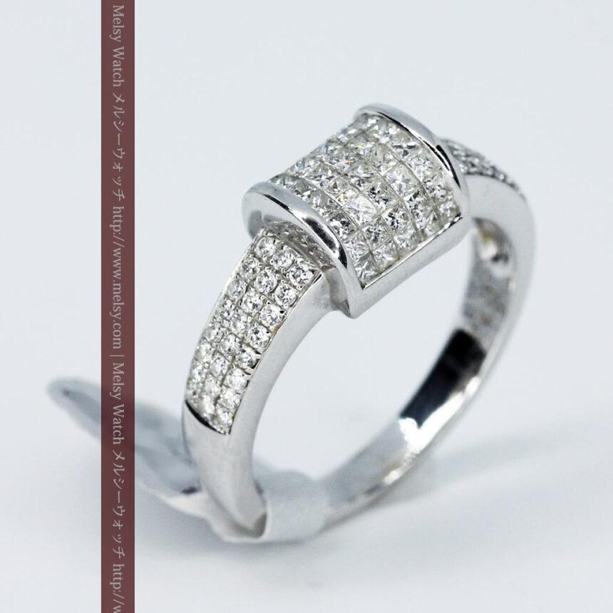72石のダイヤモンドが煌めく18金リング-A0248-4
