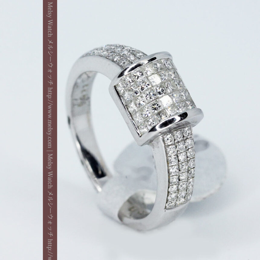 72石のダイヤモンドが煌めく18金リング-A0248-5