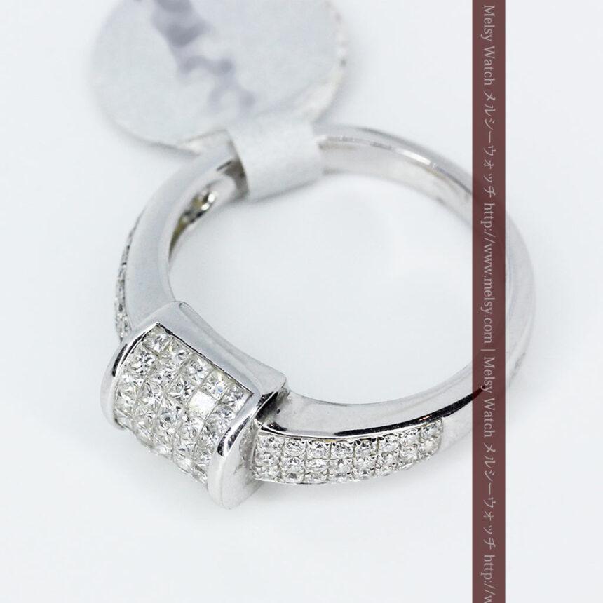 72石のダイヤモンドが煌めく18金リング-A0248-6