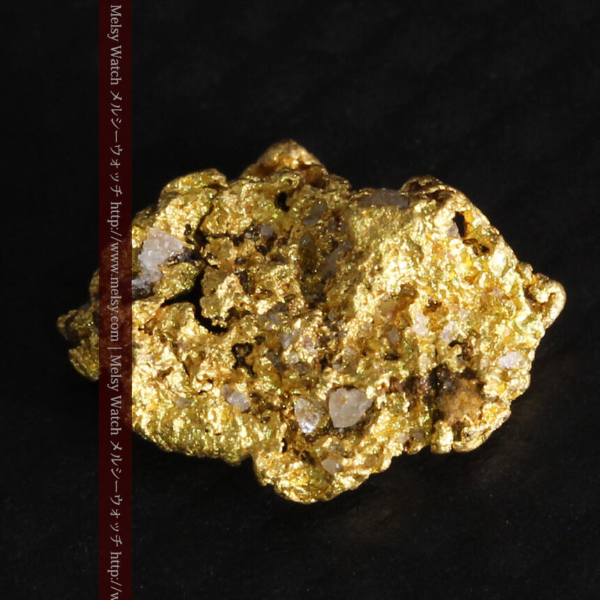 0.86gの小さな自然金-A0254-7